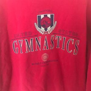 Vintage Shirts - Vintage Reebok United States Gymnastics crewneck